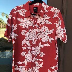 RVCA Bora SS Short Sleeve Shirt M501PRBO Small